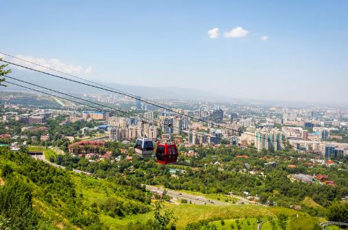 Almaty image from cable car
