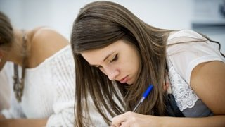 student completing application